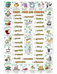 Interactive worksheet Verbs and Cooking