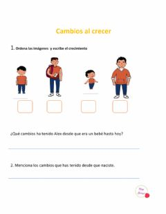 Interactive worksheet Cambios al crecer