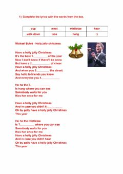 Interactive worksheet Holly jolly christmas - Michael Bublé