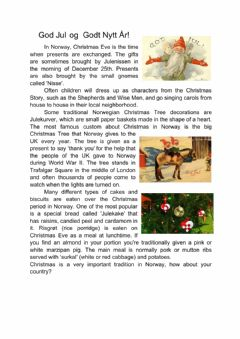 Interactive worksheet Christmas Around the World