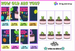 Interactive worksheet How old are you?(Puzzle)