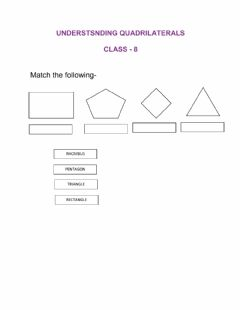 Interactive worksheet Understanding quadrilaterals