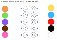 Interactive worksheet Identificación auditiva de colores