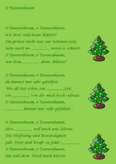 Interactive worksheet O Tannenbaum