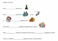 Interactive worksheet Noel