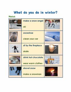 Interactive worksheet What do you do in winter?