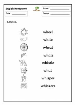 Interactive worksheet Lesson 33 - wh sound