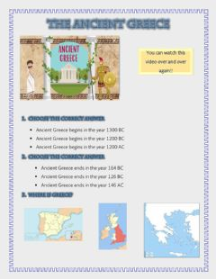 Interactive worksheet The ancient greece