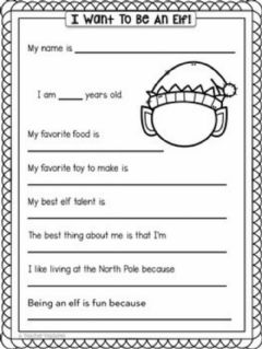 Interactive worksheet Christmas activity,I want to be an elf