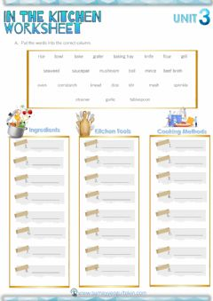 Interactive worksheet 8.3 In The Kitchen