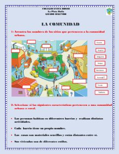Interactive worksheet La comunidad