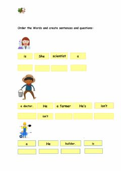 Ficha interactiva Drag and drop and create sentences