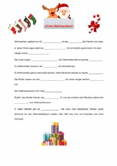 Interactive worksheet Weihnachten