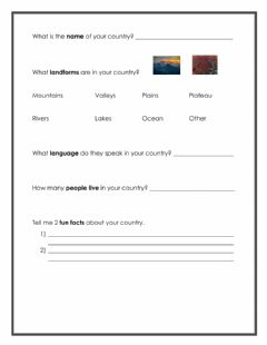 Interactive worksheet Country Research Pebble GO