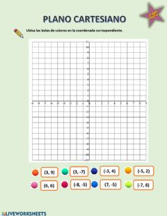 Interactive worksheet Planos cartesianos