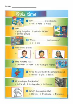 Interactive worksheet Super minds - Quiz time page 117