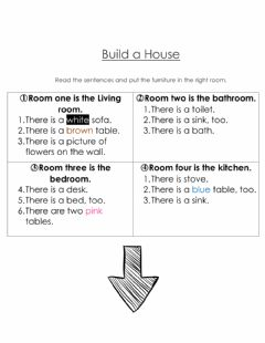 Interactive worksheet What a Nice House