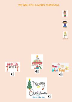 Interactive worksheet We wish you a Merry Christmas