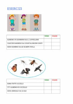 Interactive worksheet Esercizi logica