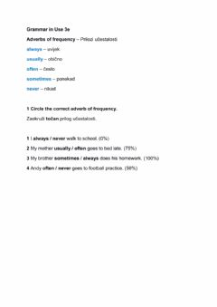 Ficha interactiva Adverbs of frequency