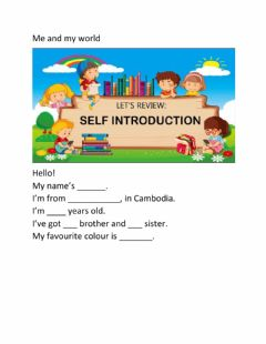 Interactive worksheet CP 1: Unit 3 Me and my world-practice