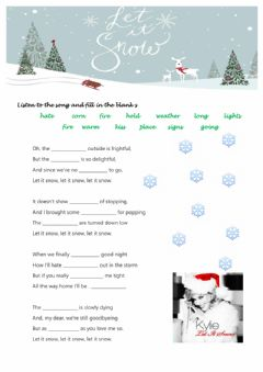 Interactive worksheet Let it snow