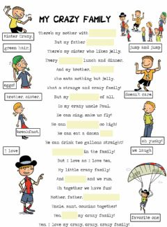 Interactive worksheet My Crazy Family
