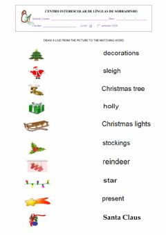 Interactive worksheet IT'S CHRISTMAS TIME 2 - 1B