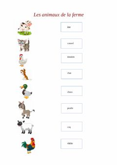 Interactive worksheet Les animaux de la ferme 3