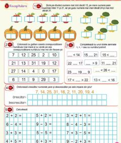 Interactive worksheet Recapitulare numerelor in concentrul 0-31