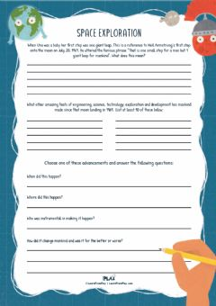 Interactive worksheet NSS - Space Exploration