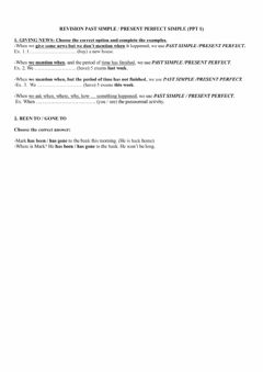 Interactive worksheet Present perfect past simple