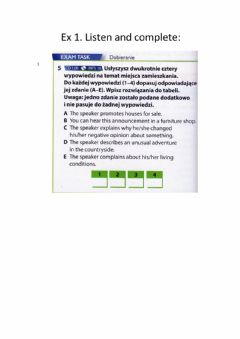 Interactive worksheet Reading 1 + Listening 1-HOUSE-DOM-Matura Exam-Polish matura Exam-Basics Matura