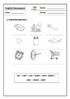 Interactive worksheet Lesson 46 - ar sound