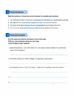 Interactive worksheet Skills book causes and effects