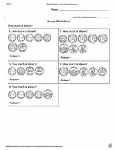 Interactive worksheet Dime Nickel Penny Pg 5