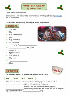 Ficha interactiva Christmas Pudding by Jamie Oliver