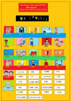 Interactive worksheet Lexique de la famille