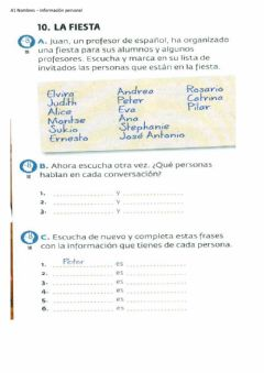 Interactive worksheet A1 iNFORMACION PERSONAL REVISION