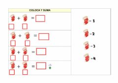Interactive worksheet Sumas navideñas-4