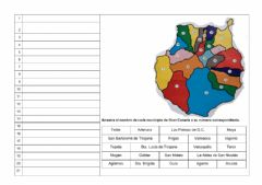 Interactive worksheet Municipios de Gran Canaria