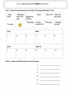Interactive worksheet U1L5-How old are you?