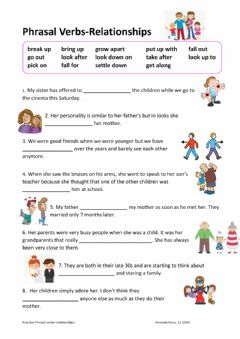 Interactive worksheet Phrasal verbs-relationships