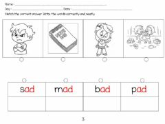 Interactive worksheet Words family