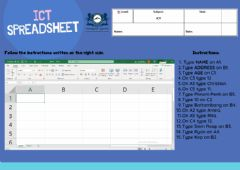 Ficha interactiva Spreadsheets