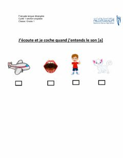 Interactive worksheet Le son a