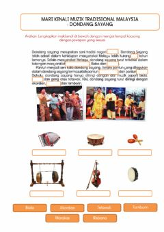 Interactive worksheet Muzik Tradisional