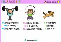 Interactive worksheet He-She-It (personal pronouns)