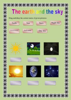 Ficha interactiva The earth and the sky