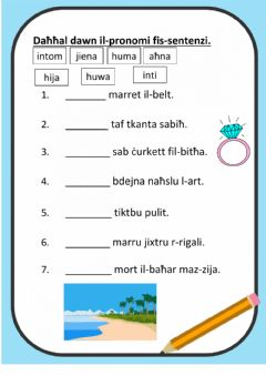 Interactive worksheet Pronomi